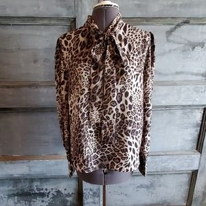 Walter Backer leopard L blouse